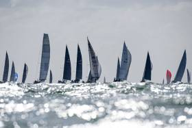 A bitter northerly wind, with squalls gusting over 30 knots, produced a challenging race for the impressive fleet of 108 boats