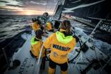 Day 3 of Leg 8 on board Turn the Tide on Plastic, with Liz Wardley on the helm during sunrise
