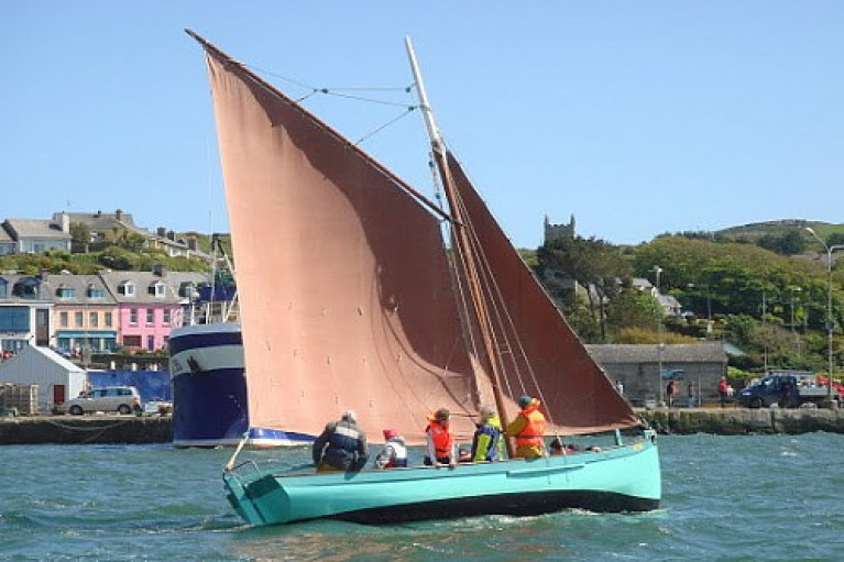 Sailing traditional boats at Baltimore, West Cork