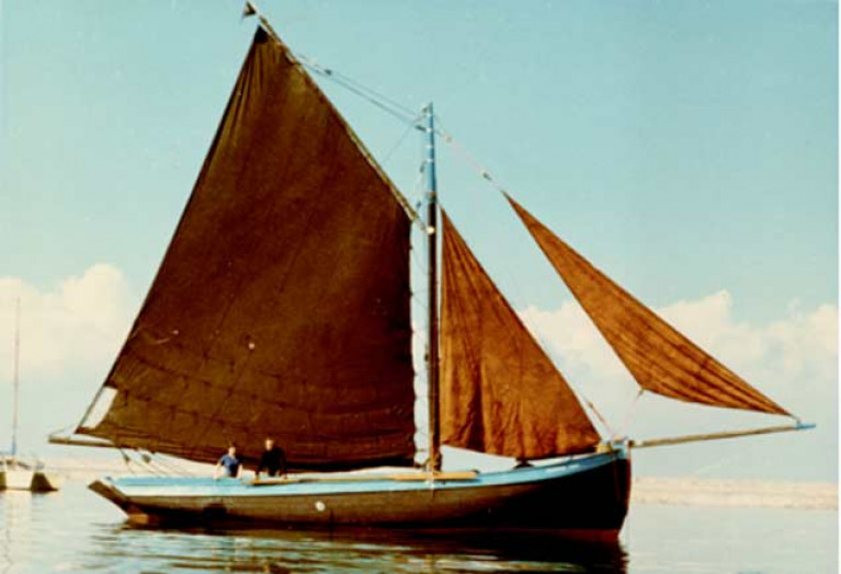 Dennis Aylmer's Morning Star after he'd given her a first restoration more than fifty years ago. She was subsequently given further restoration by Johnny Healion and taken back to Connemara, where she played a key role in the revival of the Galway Hooker fleet in the 1970s