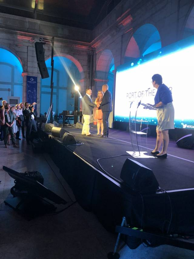 Dublin Port is awarded the winner of 'Port of the Year', the prestigious title was presented at the Seatrade Cruise Awards, part of the Seatrade Med Cruise conference held in the Portuguese capital, Lisbon.
