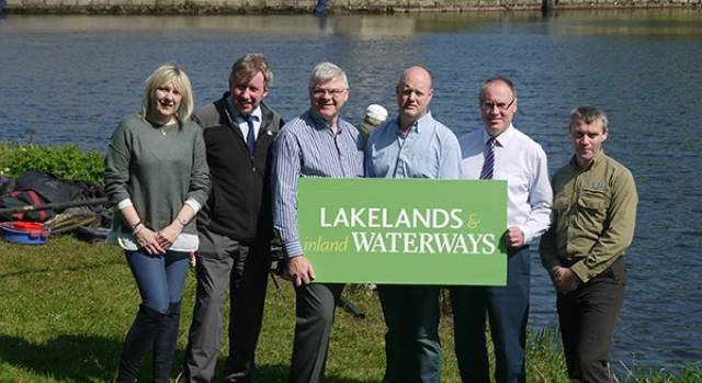 Helen Rainsford event organiser, Eddie Mc Govern Fermanagh and Omagh  District Council, Colm Breheny Fáilte Ireland, Richard Turner DAERA – Inland Fisheries  John Boyle, Waterways Ireland, Cormac Goulding Inland Fisheries Ireland