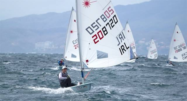 Annalise Murphy is third overall and three points off the overall lead of the silver fleet