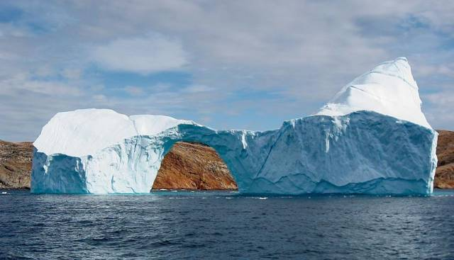 Iceberg off Greenland in Baffin Bay, within the Arctic Circle