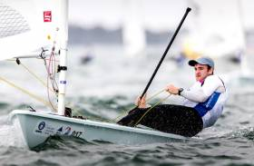 "Finn Lynch: ""I had 3 good starts but put my boat in the wrong place on the upwinds"""