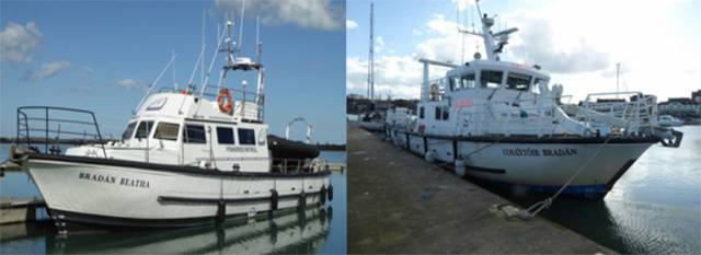The vessels MV Bradan Beatha (left) and MV Costantoir Bradan are being sold by Public Auction by by Dominic Daly Auctioneer – in association with Promara Ltd – Noel O'Regan. Scroll down for details.