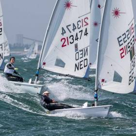 Breeze is on for  competitors at the Laser European Championships in La Rochelle, France. Ireland has three sailors competing