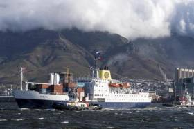 Royal Mail Ship RMS St Helena departed Cape Town, South Africa yesterday on a final voyage to the remote UK territory of St. Helena in the South Atlantic Ocean. Afloat adds the passenger/cargoship made a once-off visit to Irish ports in 1995 during a private-charter cruise with calls to Dublin and Cork (Cobh).