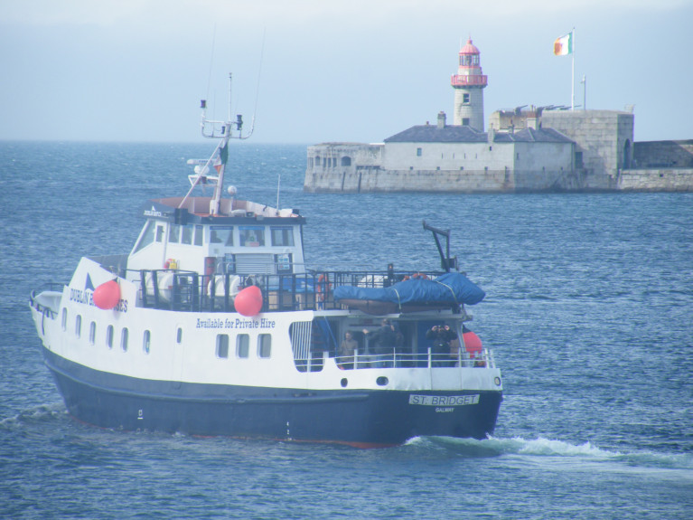 Former Aran Islands Ferry: St. Bridget of Dublin Bay Cruises sets off from Dun Laoghaire Harbour on services also based out of Dublin Port and Howth Harbour. In addition to cruises around Dalkey Island  but based only out of Dun Laoghaire.