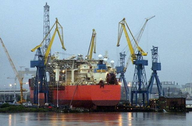 At the engineering facility's Belfast Dock in 2012 was the dry-docked giant, SeaRose FPSO (floating production, storage and offloading) vessel used for the oil and gas sectors.