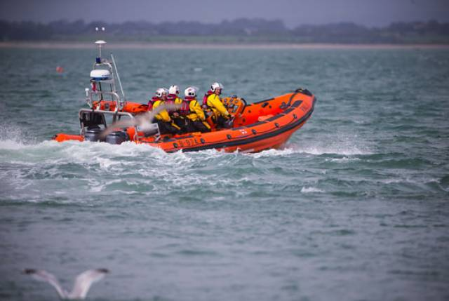 Helvick Head RNLI's inshore lifeboat Robert Armstrong