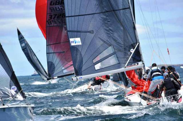 The SB0 pre-Worlds regatta has provided competitors with two exhilarating races on Hobart's River Derwent