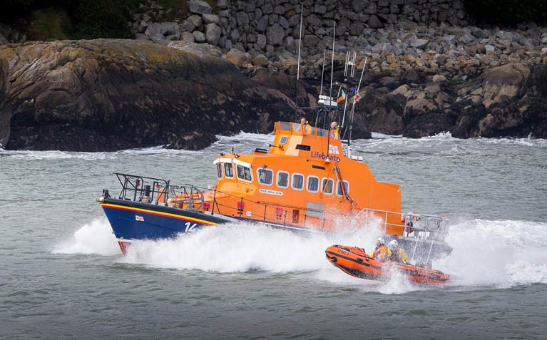 Dun Laoghaire Harbour RNLI lifeboats assisted the jetskis