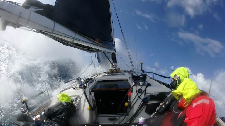 Knowing when to reef your mainsail to achieve the right balance for the boat is key to your upwind, heavy air performance
