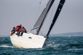 Conor Doyles's fifty foot X yacht Freya in action in race two of the KYC league