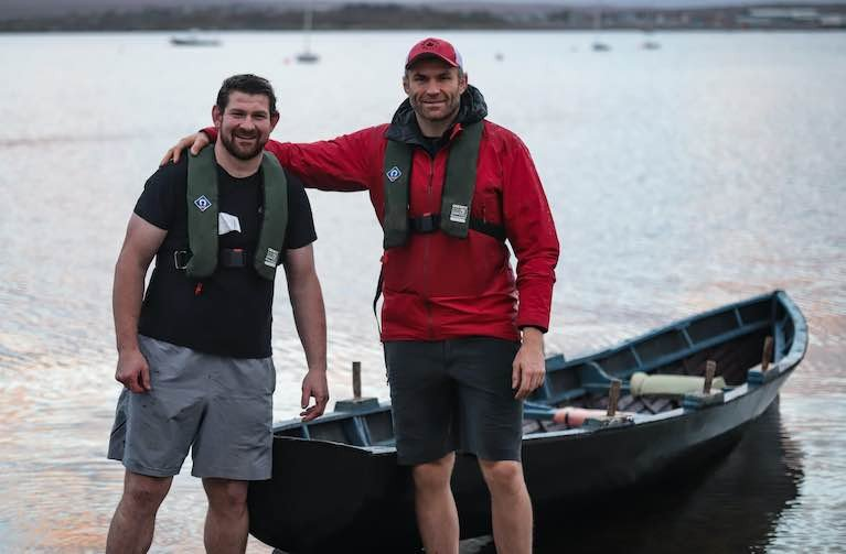Currach Crossing by Two Galway Rugby Players Planning Transatlantic Row