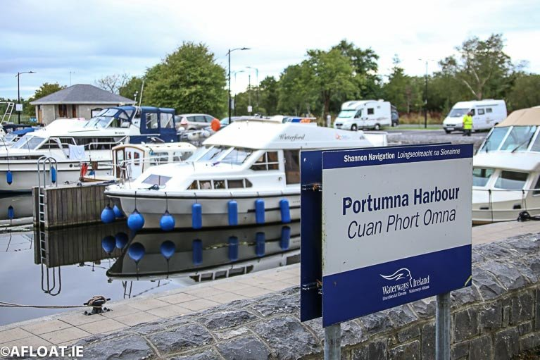 Portumna Harbour in County Galway on the Shannon Navigation