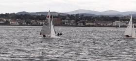 Fireball dinghy sailing on Dublin Bay – Lawton & Oram (15061) chasing Clancy & Byrne (to windward & partially hidden)