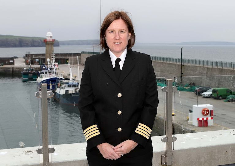 Dunmore East harbourmaster Capt Deirdre Lane. Scroll down for podcast interview