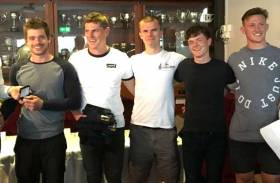 The Janx Spirit u25 crew at the J24 Irish Nationals on Lough Erne
