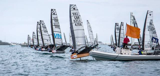 English sailor Rob Greenhalgh repeated his win at the MS Amlin International Moth Regatta