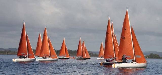 Squibs racing last year at Lough Derg Yacht Club