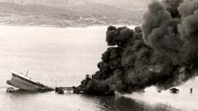 The Betelgeuse oil tanker sinks at Whiddy Island in Bantry Bay forty years ago