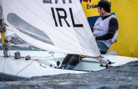 Finn Lynch has conquered the light winds in Hyeres to lie 13h overall