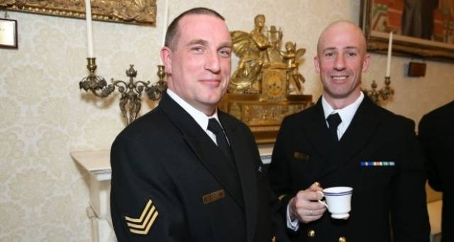 Naval Service personnel attend St Patrick's Day reception held at Áras an Uachtaráin