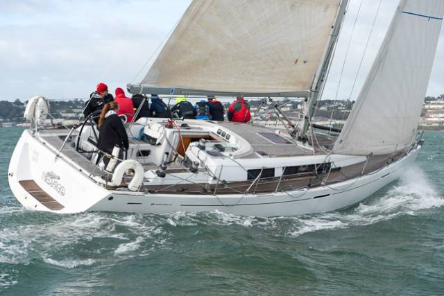 Majestic – The Grand Soleil 40 Nieulargo skippered by Denis Murphy led the fleet. Scroll down for photo gallery