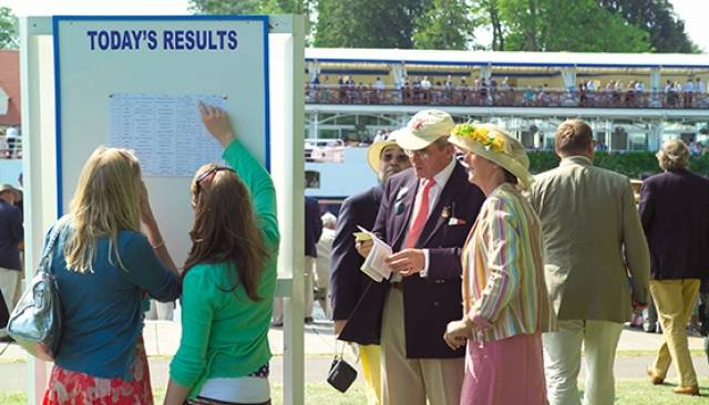 Spectators check the results at Henley. Pic courtesy of Henley Royal Regatta.