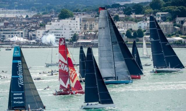 Next summer's pinnacle of offshore racing, the Rolex Fastnet Race is likely to be an even greater spectacle, with the event being opened up to yachts larger than the 100ft Leopard and Comanche (seen here at the start of the 2015 record-breaking race)