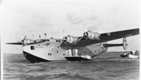 The Yankee Clipper flew across the Atlantic on a route from Southampton to Port Washington, New York with intermediate stops at Foynes, Ireland, Botwood, Newfoundland, and Shediac, New Brunswick. The inaugural trip occurred on June 24, 1939.