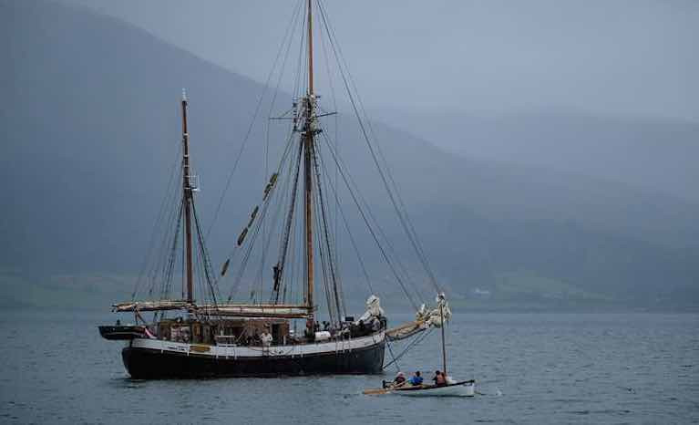 Tall Ships & Newry Based Sailing Charity Carry Chocolate Under Sail & Oar