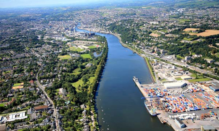 Port of Cork on the river Lee