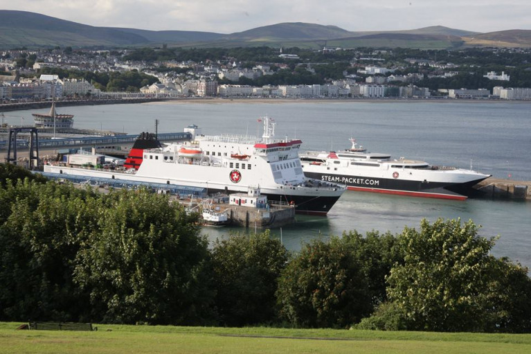 Cancelled sailings is blamed to silt build up Douglas Harbour.
