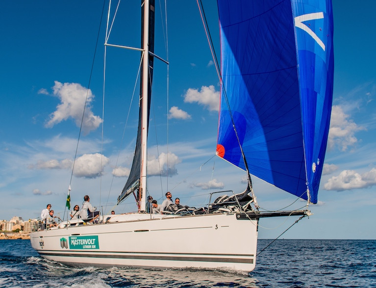 The Podesta family's First 45 Elusive 2 on her way to winning yesterday's 30-mile Malta Coastal Race in the buildup to Saturday's Rolex Middle Sea Race