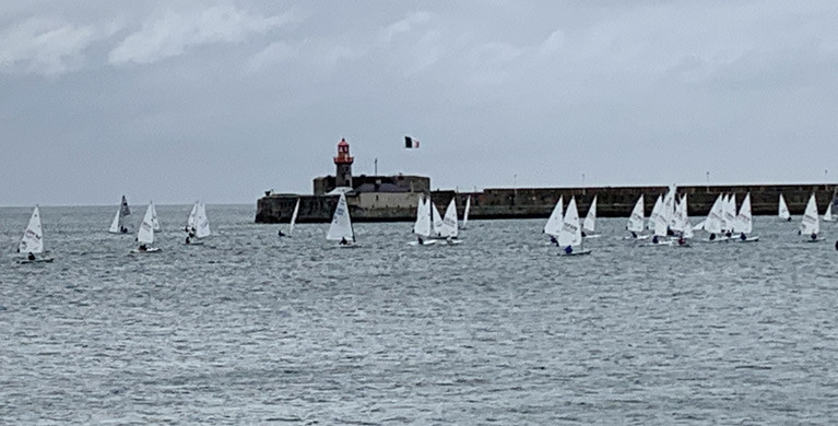 Another fine turnout of Lasers for DBSC dinghy racing inside Dun Laoghaire Harbour