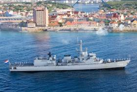 Dutch frigate HNLMS Van Amstel (F831) was in the Aegean Sea on NATO anti people-smuggling duties and is set to visit Dublin Port this weekend