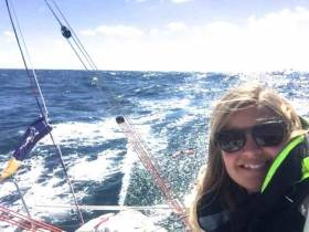 The sailing dream realised for Westport's Joan Mulloy. But now she reckons she has to give her sailing talent a real racing edge, and in January she'll be doing an intensive offshore racing and training course with the legendary Tanguy Leglatin at Lorient in South Brittany.