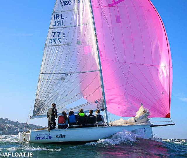 The INSS 1720 is second overall at the DBSC Spring Chicken Series with two races left to sail