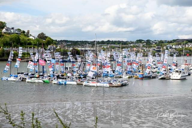 The Figaro fleet berthed at Castlepark Marina