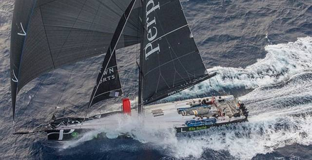 Anthony Bell's hundred-footer Perpetual LOYAL has chopped nearly five hours off the course record for the Rolex Sydney-Hobart Race