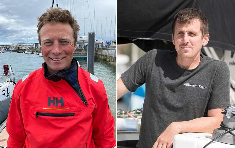 Ireland's Kenny Rumball (left) and Tom Dolan will compete at next's week's French offshore Solo Maitre Coq race