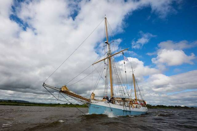 Ilen departs Limerick bound for West Greenland to follow salmon migration and highlight their decline