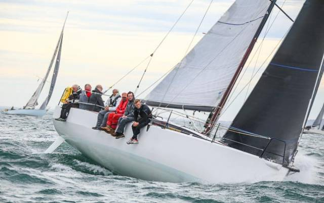 Rockabill VI is leader on the water, in IRC overall, and in Racing 1