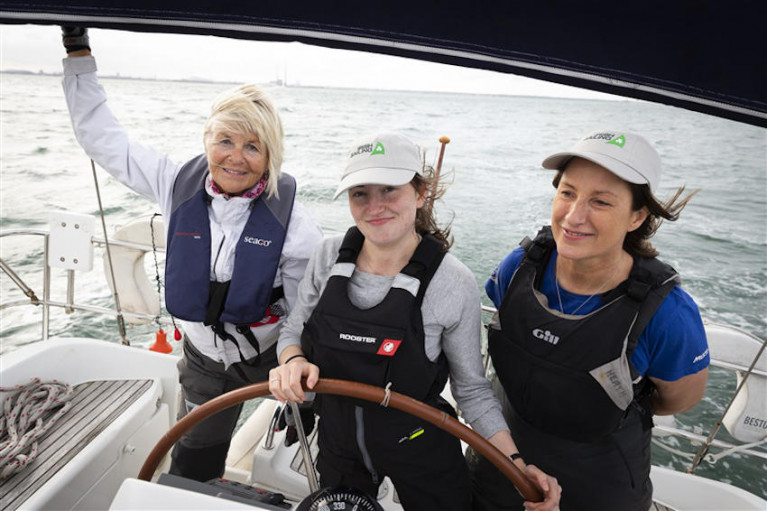 Sailors taking part in last year's Women at the Helm regatta