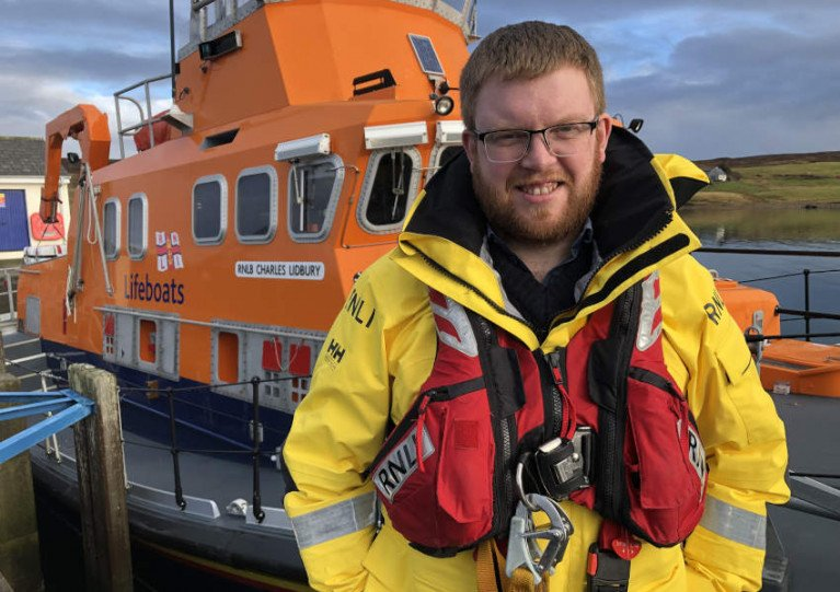 Thirty-one-year-old John Robertson will now lead the volunteer crew of the RNLI Charles Lidbury