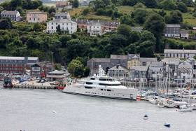 'Grace E' is a Superyacht, 73 metres in length