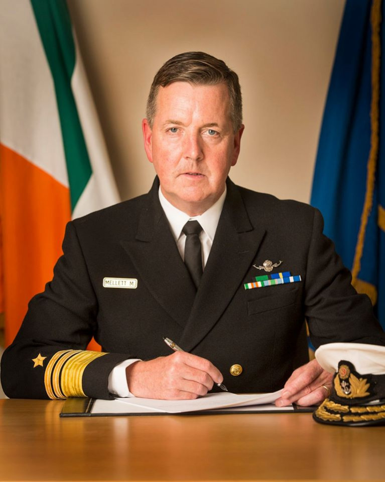 Vice Admiral Mark Mellett DSM, Chief of Staff of Irish Defence Forces who on this St. Patrick's Day refers to the words of Seamus Heaney to rally the nation in these unprecedented times